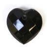 Glass Bead Briolettes 10x10mm Heart Shape Jet